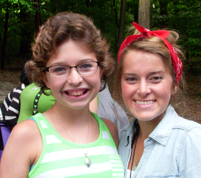 Smiling Camper and Volunteer Staff at Camp Can Do