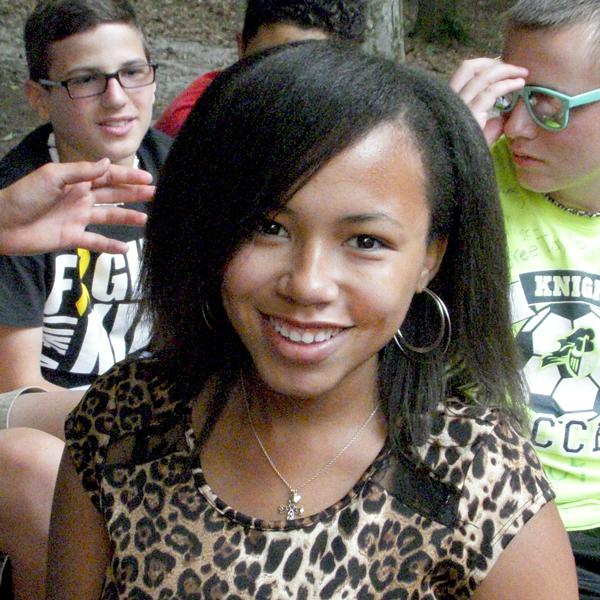 Camp Can Do Camper in leopard print shirt at Gretna Glen, PA