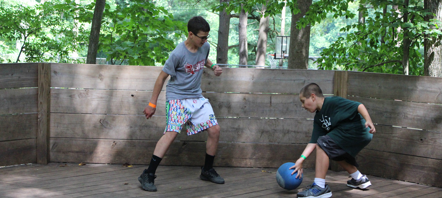 Playing Dodge Ball at Gretna Glen, Camp Can Do, Mount Gretna, central PA