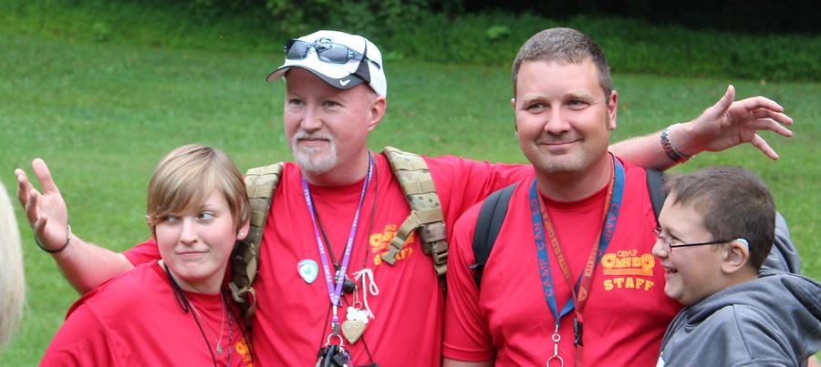 Volunteer Staff at Camp Can Do, Gretna Glen, PA